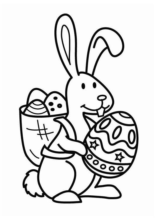 Dibujo Para Colorear Conejo De Pascua Img 26455