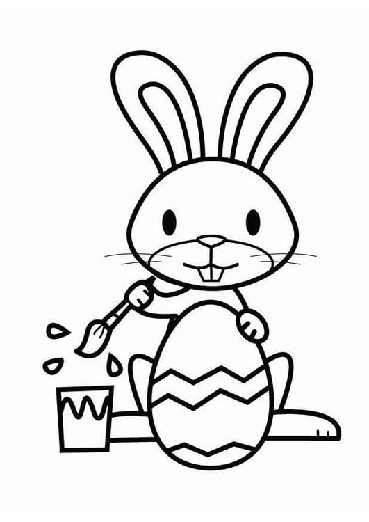Dibujo para colorear Conejo de Pascua - Img 26457