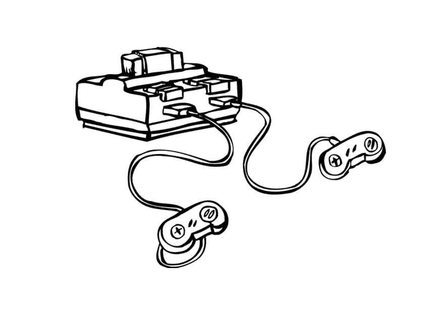 Dibujo Para Colorear Consola De Videojuegos