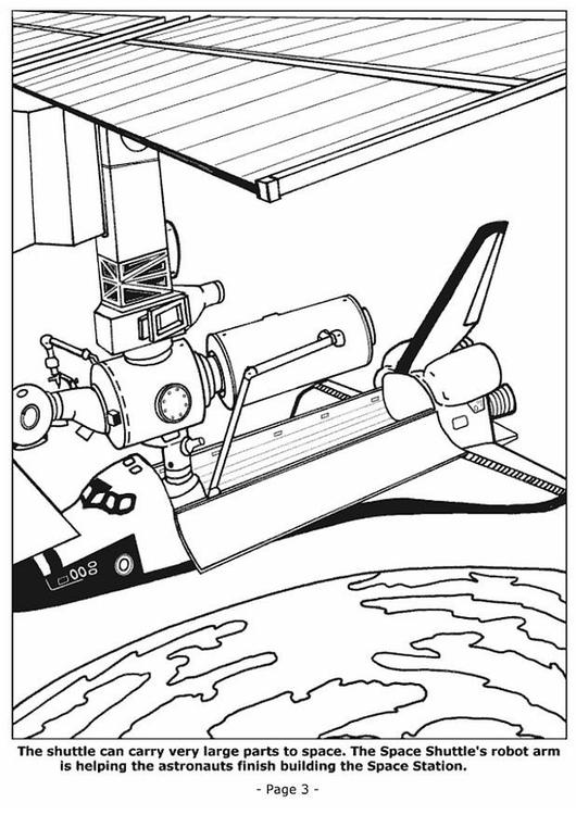 Dibujo para colorear Construcción de estación espacial - Img 6772