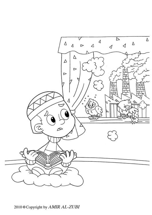 Dibujo Para Colorear Contaminación Atmosférica Dibujos