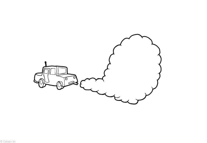 Dibujo Para Colorear Contaminación Del Aire Dibujos Para