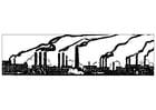 Dibujos para colorear Contaminación industrial