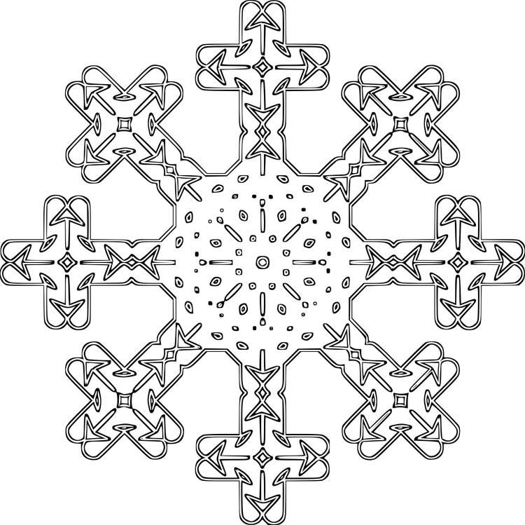 Dibujo para colorear Copo de nieve - Img 16121