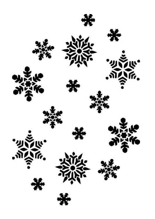Dibujo para colorear Copos de nieve - Img 10023
