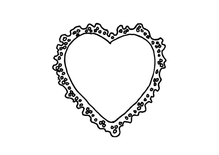 Dibujo para colorear Corazón de San Valentín - Img 9530