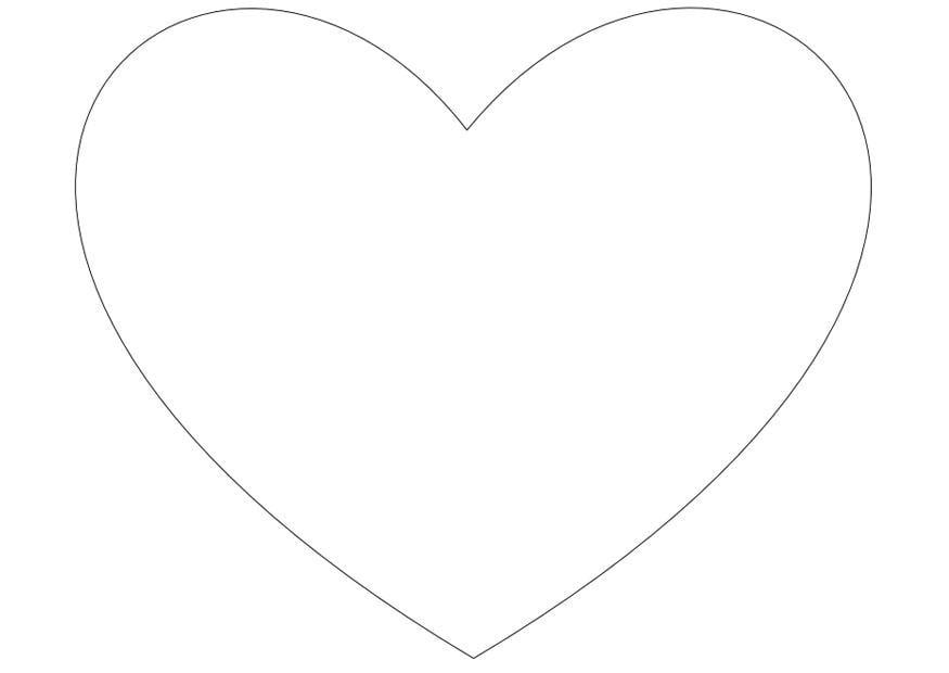 Dibujo para colorear Corazón simple - Img 10026