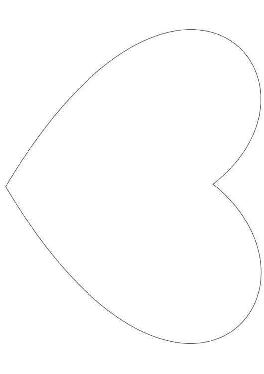 Dibujo para colorear Corazón simple - Img 13816