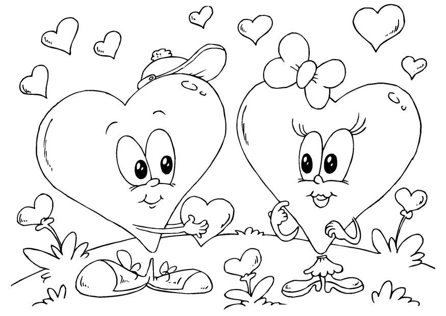 Dorable Corazón De San Valentín Para Colorear Molde - Páginas Para ...