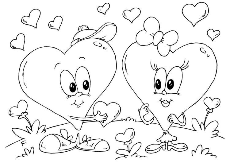 Dibujo Para Colorear Corazones San Valentín Img 24612