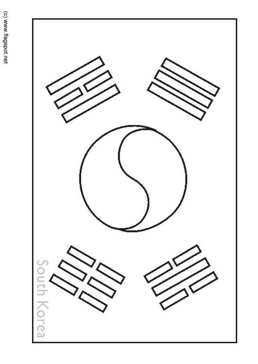 Dibujo Para Colorear Corea Del Sur Img 6317