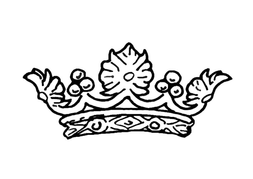 Dibujo Para Colorear Corona De La Reina Img 13722