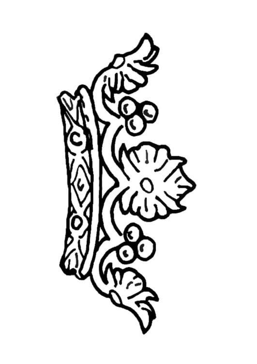 Dibujo para colorear Corona de la reina - Img 13722