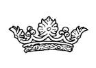 Dibujo para colorear Corona de la reina
