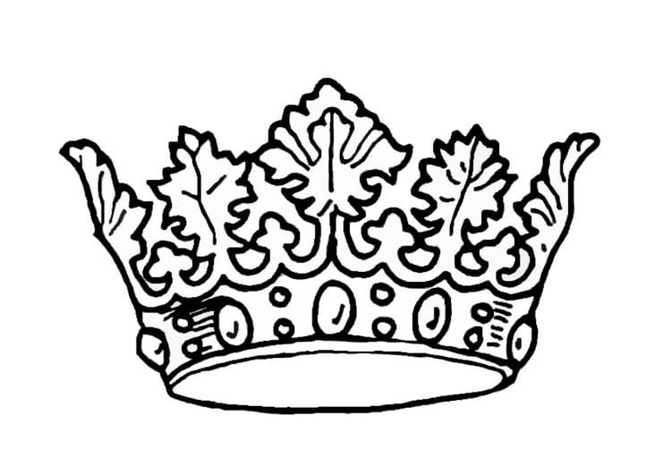Dibujo para colorear Corona del rey - Img 9068
