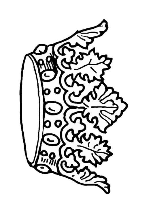 Dibujo para colorear Corona del rey  Img 27244