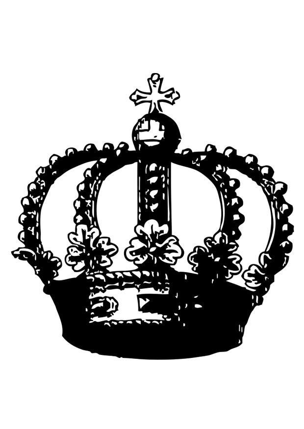 Dibujo para colorear corona - Img 26988