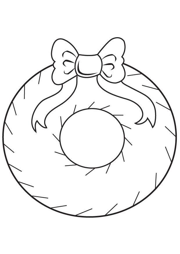 Dibujo para colorear corona navide a img 7099 - Dibujos de navidad faciles ...