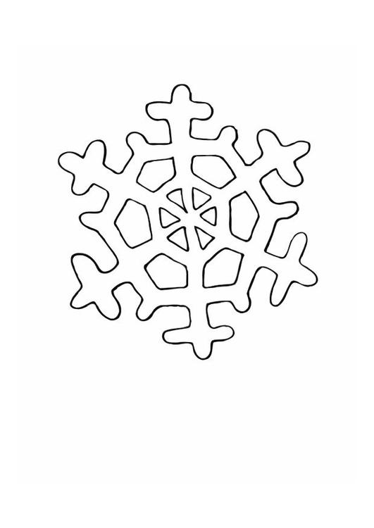 dibujo para colorear cristal de hielo
