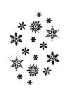 Dibujo para colorear cristales de hielo