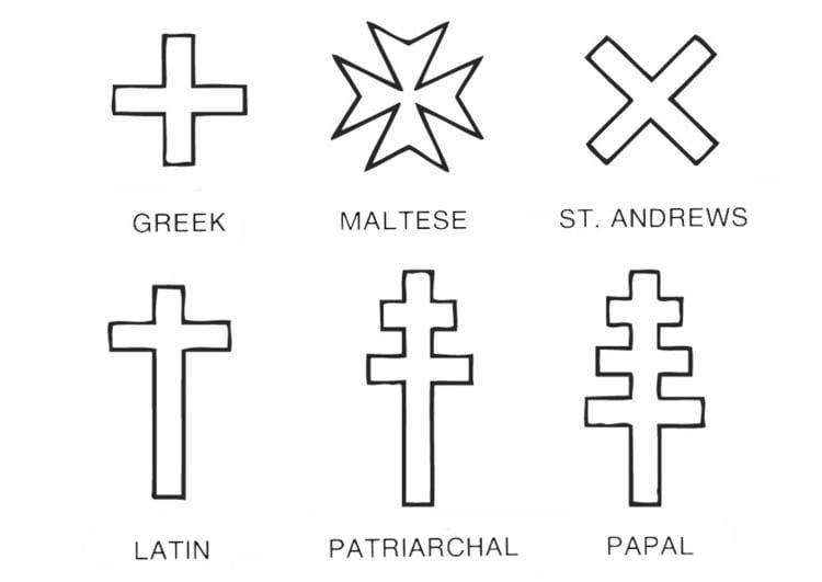 Dibujo para colorear Cruces - Img 12956