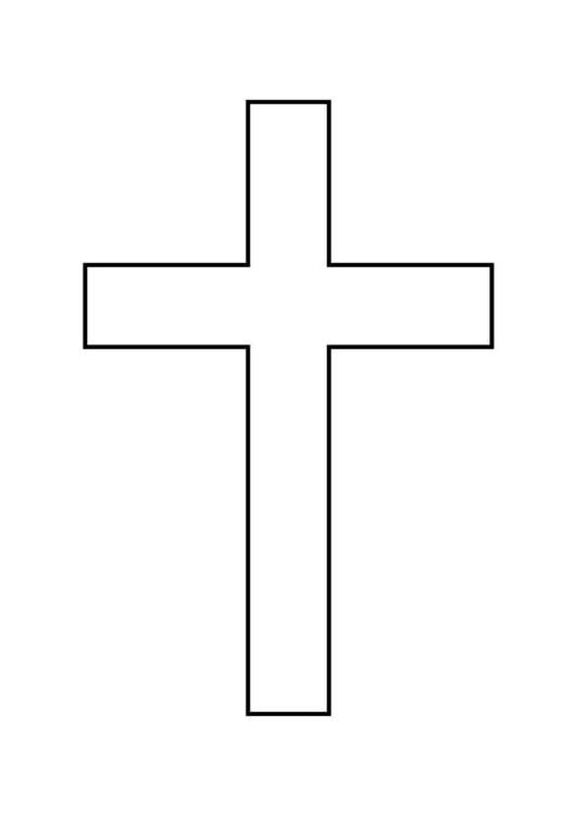 Dibujo para colorear Cruz - Img 10340