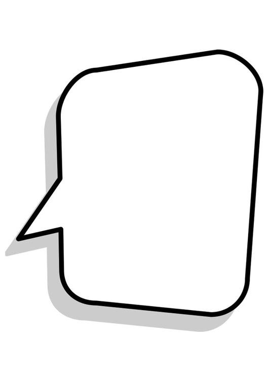 Dibujo Para Colorear Cuadro De Diálogo Dibujos Para