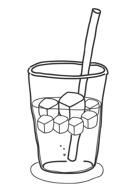 Dibujo Para Colorear Cubitos De Hielo En Bebida Img 30280