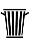 Dibujo para colorear cubo de basura