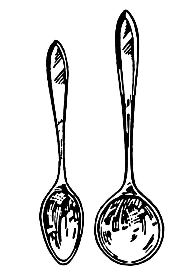 Dibujo para colorear cuchara - Img 18862