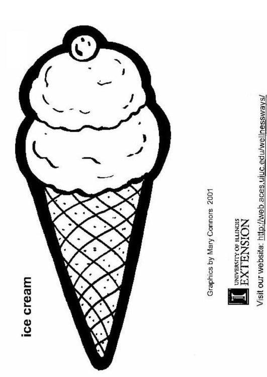 Dibujo para colorear Cucurucho de helado - Img 5811