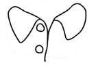 Dibujo para colorear cuello