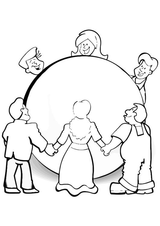 Dibujo para colorear cuidar el mundo - Img 21152