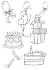 Dibujo para colorear Cumpleaños