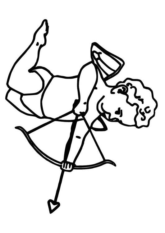 Dibujo para colorear Cupido - Img 9824