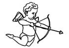 Dibujo para colorear Cupido