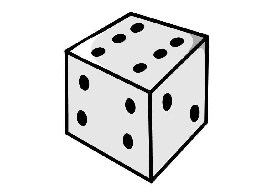 El juego de las palabras encadenadas-https://www.educima.com/dibujo-para-colorear-dado-dl10155.jpg