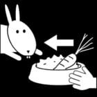 Dibujo para colorear Dar comida al conejo