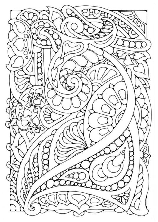 dibujo para colorear decoraci n img 15812. Black Bedroom Furniture Sets. Home Design Ideas