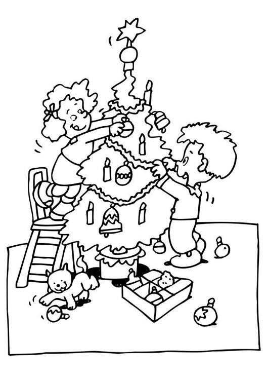 Dibujo Para Colorear Decorar árbol De Navidad Img 6515