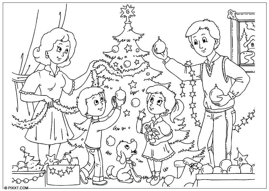 Worksheet. Dibujo para colorear decorar el rbol de Navidad  Img 28189