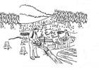 Dibujos para colorear Deforestación