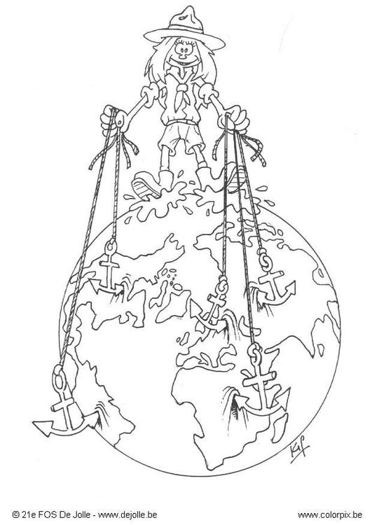 Dibujo Para Colorear Del Mundo Entero Img 4745