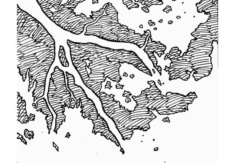 Dibujo Para Colorear Delta De Rio Dibujos Para Imprimir Gratis