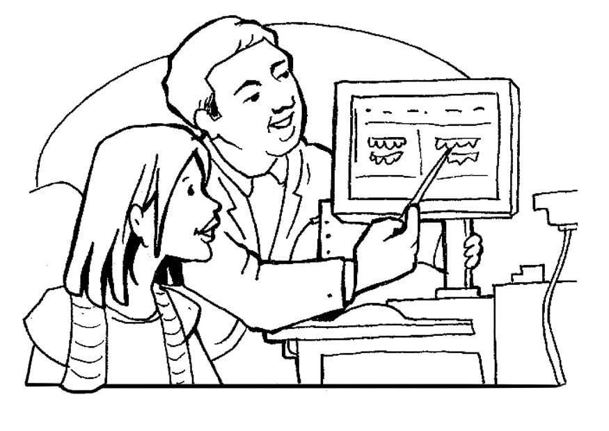 Dibujo para colorear Dentista - Img 7110