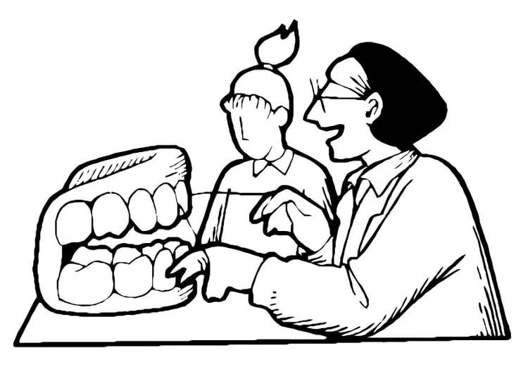 Dibujo para colorear Dentista - Img 10973