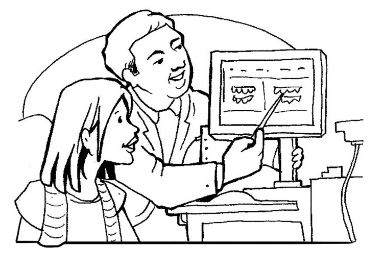 Dibujo para colorear Dentista - Img 21179