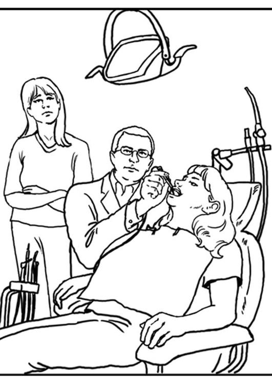Dibujo para colorear Dentista - Img 21180