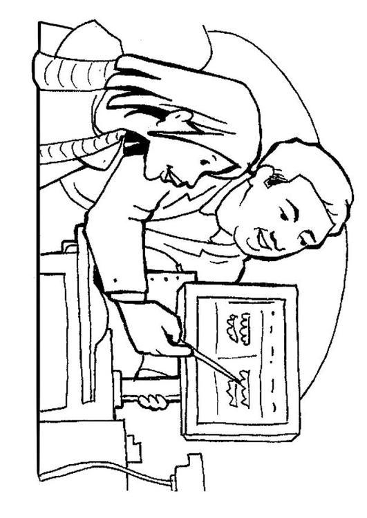 Dibujo para colorear Dentista - Img 7142