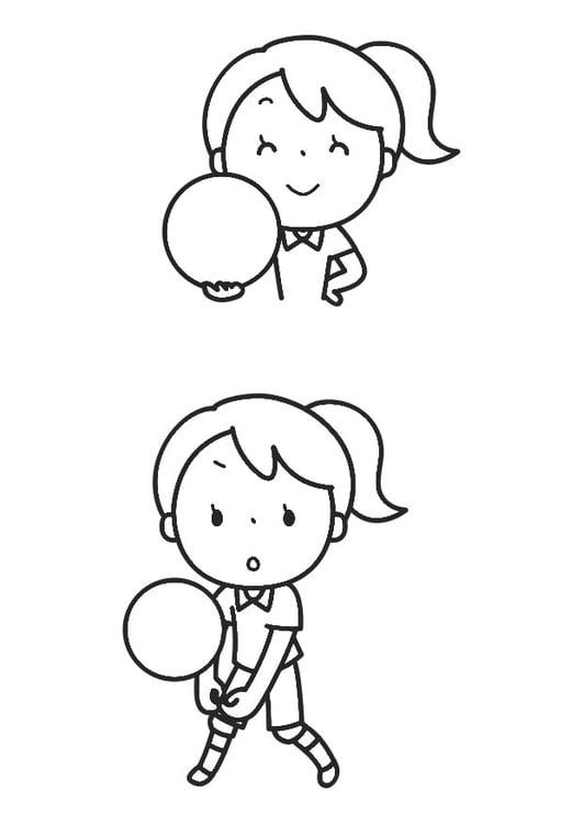 Dibujo para colorear deporte de pelota - Img 30262
